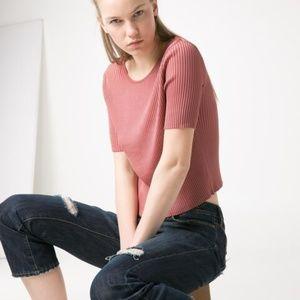 Mango | Premium Ribbed Cropped Sweater